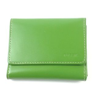 Fossil green leather wallet